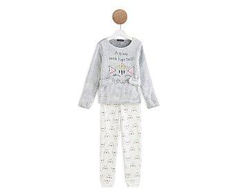 In Extenso Pijama pelele coral fleece para niña Talla 6.