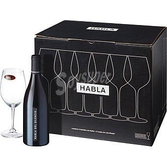 Habla Vino tinto de Extremadura caja de cata Riedel 6 botella 75 cl + 6 copas
