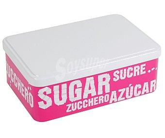 VIROJANGLOR Caja metálica para azúcar con diseño modelo Big Bang, 19x125x7 centímetros 1 Unidad