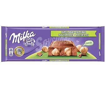 Milka Chocolate con Leche y Avellanas Troceadas Tableta 300 g