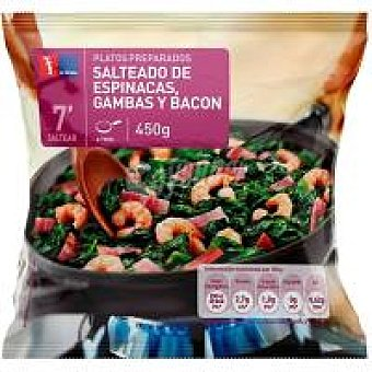 La Sirena Salteado de espinacas-bacón y gambas Bolsa 450 g