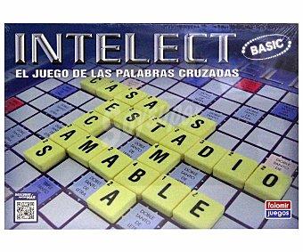 FALOMIR JUEGOS Juego de Mesa Intelect Basic, Incluye 4 Regletas, 100 Fichas de Letras y 1 Reloj de Arena, de 2 a 4 Jugadores 1 Unidad