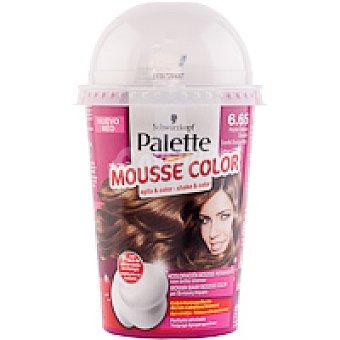 Palette Schwarzkopf Tinte rubio oscuro Nº 6.65 Mousse Color Caja 1 unid