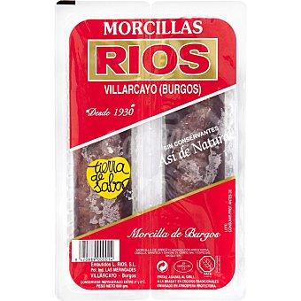 Ríos Morcilla negra de Burgos 2 unidades (peso aproximado 600 g)