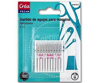 STYLE Pack de 10 agujas para máquina de coser 1 Unidad