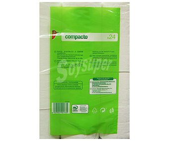 Auchan Papel Higiénico Compacto Doble capa 24 rollos