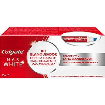 Colgate Max White Kit blanqueador con pasta de dientes + lápiz blanqueador  estuche 1 unidad