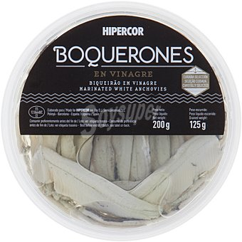 Hipercor Boquerones en vinagre Tarrina 125 g neto escurrido
