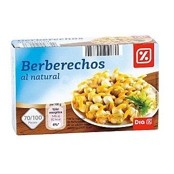 DIA Berberechos al natural 70/100 piezas lata 63 gr Lata 63 gr