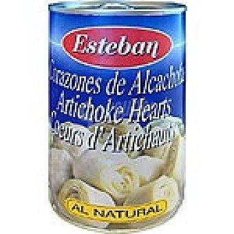 Esteban Corazones de alcachofas al natural 8-10 piezas Lata 240 g neto escurrido