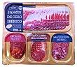 Tabla productos ibéricos (jamón de cebo, salchichón, lomo y chorizo lonchas) Paquete de 200 g LA HACIENDA