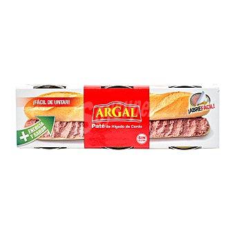 Argal Pate higado cerdo textura gruesa Pack 3 u - 249 g