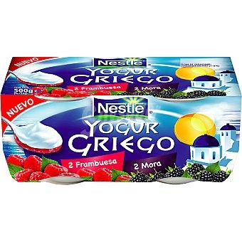 Yogur Griego Nestlé Yogur griego de mora-frambuesa Pack 4x125 g