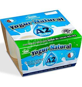 Yogur cantarrana natural A2 4 unidades