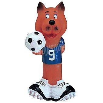 BIOZOO AXIS Juguete de vinilo para perro con forma de perro jugador de futbol 1 unidad