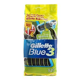 Gillette Maquina desechable Blue 3 12 ud