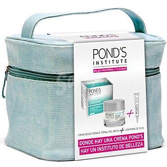 Pond's crema con efecto gel matificante para piel mixta Institute Professional Terapia Termal + contorno de ojos 15 ml tarro 50 ml