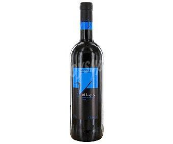 VALL DE JUY Vino tinto merlot con denominación de origen Penedés Botella de 75 centilitros