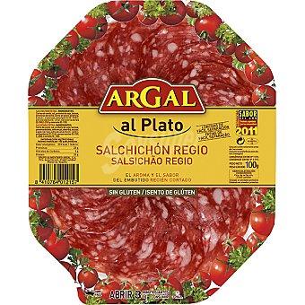 ARGAL AL PLATO Salchichón Regio en lonchas Envase 100 g