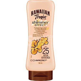 Hawaiian Tropic Loción solar protectora FP-25 Shimmer effect - efecto brillo resistente al agua Frasco 180 ml