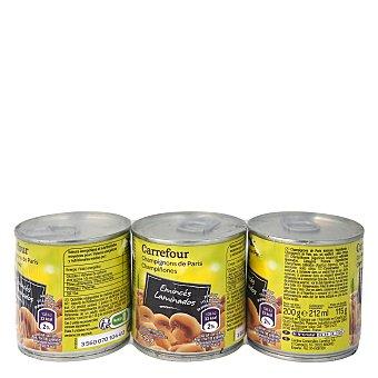 Carrefour Champiñones laminados Pack de 3x185 g