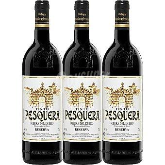 Pesquera Vino tinto reserva D.O. Ribera del Duero Estuche 3 botellas 75 cl Estuche 3 botellas 75 cl