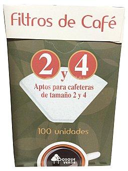 Bosque Verde Filtros cafe Nº 4 Paquete 100 u