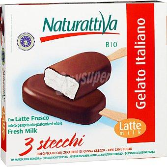 Naturattiva Helados bombón chocolate vainilla estuche 255 ml Pack 3 unidades