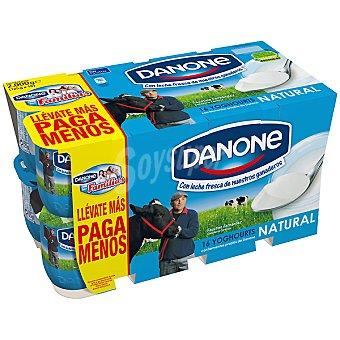 Danone yogur natural pack 16 unidades 125 g