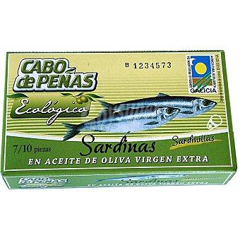 Cabo de Peñas Sardinillas en aceite de oliva virgen extra ecológico 7- piezas Lata 60 g neto escurrido