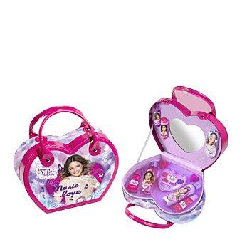 Disney Violetta, Maletin Corazón con colonia + gel-champú + cosmética 1 ud