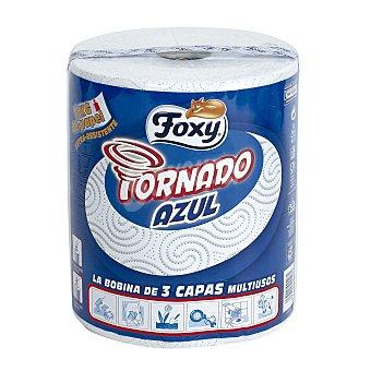 Foxy Papel cocina 3 capas Tornado Azul 1 rollo