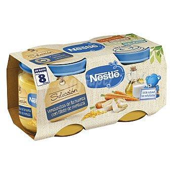 Nestlé Naturnes selección verduritas de la huerta con merluza tarrito 2 x 200 gr