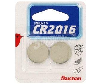 Auchan Pilas litio CR2016 2 unidades