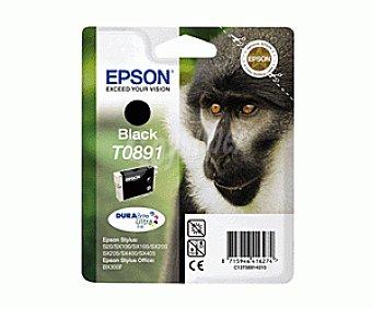 Epson Cartucho Negro T0891 - Compatible con Impresoras: stylus S / 20 / 21 SX / 100 / 105 / 110 / 115 / 205 / 215 / 218 / 405 / 415 office / BX300F