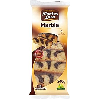 MONTES LARA INPANASA Bizcochos Marble con chocolate Paquete 240 g