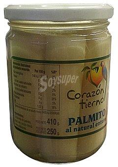 Corazon Tierno Palmitos al natural medallones conserva Tarro 250 g escurrido
