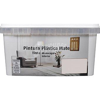 Pintura plástica mate monocapa para interior color marfil 4 litros