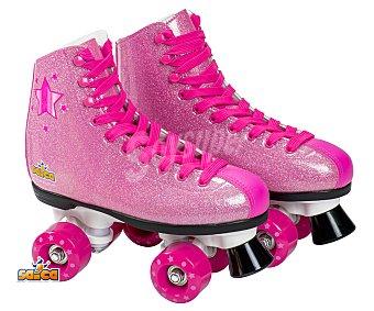SHAKIRA Motions Patines infantiles de bota talla 35, color rosa y diseño SHAKIRA.