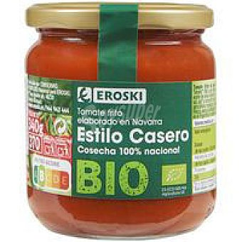 Eroski Tomate frito casero bio bio/eco Frasco 340 g