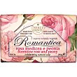 Romantica jabón natural vegetal rosa y peonia  pastilla 250 g Nesti dante