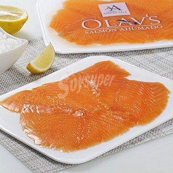 Angulas Aguinaga Lonchas salmón ahumado Sobre de 100 g