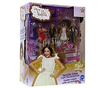 DISNEY Taquilla Doble Glitter con Accesorios Violetta 1 Unidad