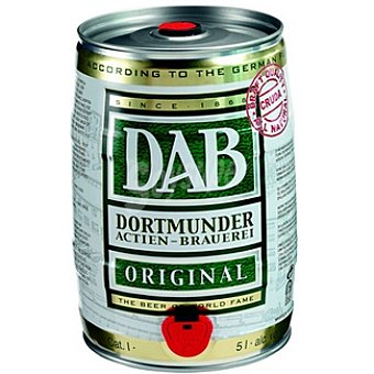 DAB cerveza rubia original alemana con grifo incorporado barril  5 l