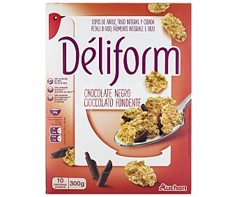 Auchan Cereales con chocolate negro Dèliform 300 gr