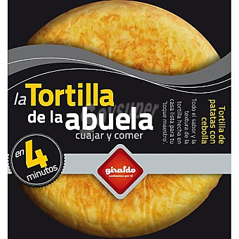 GIRALDO La Tortilla de la abuela, preparado para tortilla de patatas con cebolla solo cuajar Envase 400 g