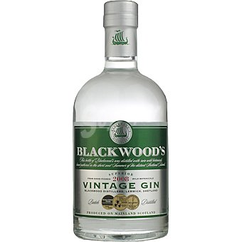 Vintage BLACKWOOD' S 2007 Dry gin ginebra escocesa botella 70 cl