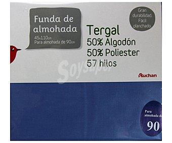 Auchan Funda de almohada color lavanda, 90/105 centímetros 1 Unidad