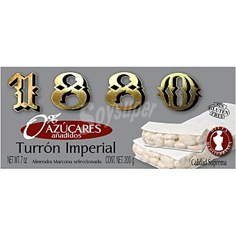1880 Turrón de Alicante sin azúcares Tableta 200 g