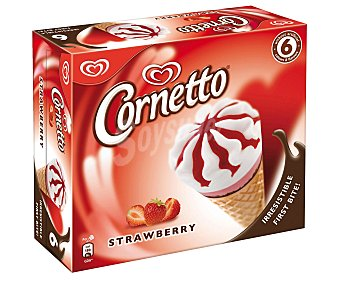 Cornetto Frigo Cono Sabor Fresa 6x93ml